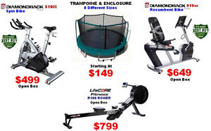 8 Trampolines,treadmill,rower,exercise & recumbent & spin bikes