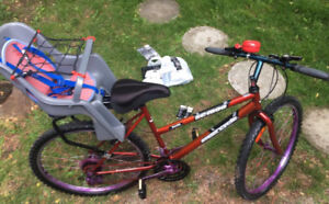 Adult bicycle with child seat for sale $70