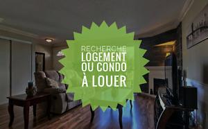 Recherche condo ou logement à louer entre 750-1000$ 1er juillet