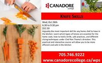 Knife Skills, Canadore College, Parry Sound