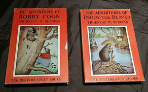 Collector Books for Children, 2 Thorton W. Burgess Books; with d
