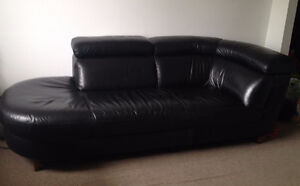 Black leather couch excellent condition