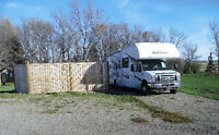 Serviced RV Pad For Rent near Coalhurst & Lethbridge