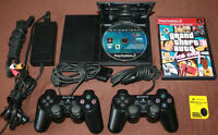 Slim Playstation 2 Console 2 Controllers 2 Games Memory Card etc