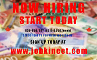 Part Time Work Available IMMEDIATE START