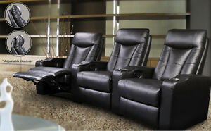 Brand new leather home theater seating - recliner