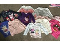 Girls long sleeved tops 3-4 years (next and peppa pig)