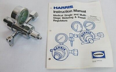 New Usa-made Harris 1-2s-ox175m 2 Stage Preset 50 Psi Medical Oxygen Regulator