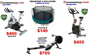 8 DiffTrampolines,Rower-Rowing Machines, Exercise Bikes,Gyms