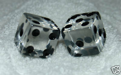 CLEAR TRANSPARENT DICE PAIR](Clear Dice)