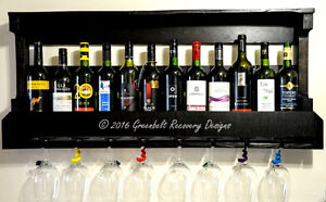 SALE-RECLAIMED WOOD WINE RACK-SHELF-STORAGE-TABLE-TRAY-GIFT