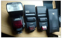 3 mint+ flash lights for Canon (1 digital, 2 for film)