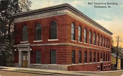 Illinois Bell (Kankakee Illinois~Bell TelephoneBuilding~Cornices~Stone Jambs 1913)