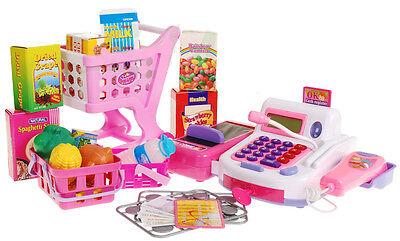 Kinder Spielkasse Kinderkasse Kinder Einkaufswagen Kaufladen Spielgeld KP8900