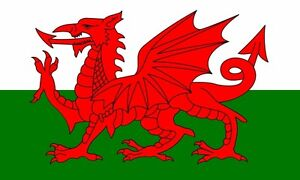 WALES WELSH LARGE DRAGON FLAG 5X3