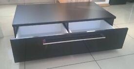 Germania tv unit gloss black front panel
