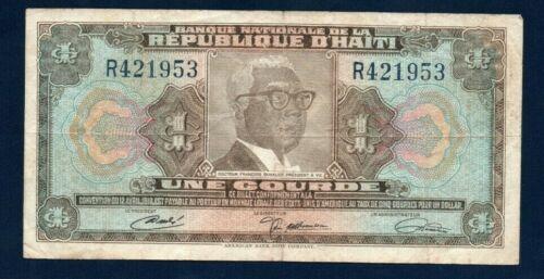 Haiti VF Note 1 Gourde ND 1972 Law 1919 P-200