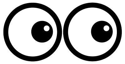Karton Eyes Selbstklebende Sticker Sicherheit Zeichen ()