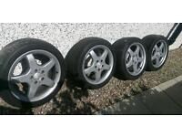 Mercedes AMG wheels with tyres