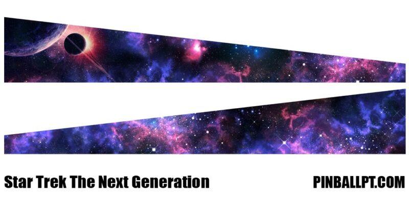 Star Strek Next Generation Pinball Decal Inside Cabinet Art Mod PinballPT