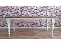 4ft Rustic Farmhouse Reclaimed Pine Kitchen Dining Table - Free Delivery
