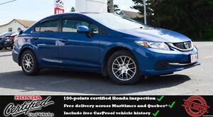 2013 Honda Civic LX Heated Seats, Bluetooth, One Owner !!