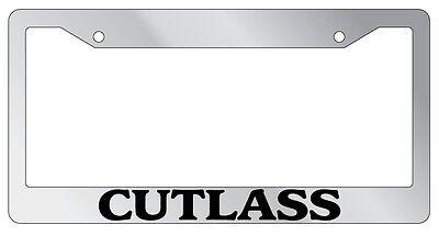 Chrome License Plate Frame Car's Cutlass Auto Accessory Novelty