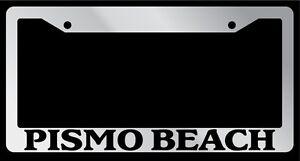 Chrome-License-Plate-Frame-Pismo-Beach-Auto-Accessory-Novelty