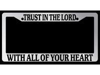 TRUST ME I AM A GEMINI Metal License Plate Frame Tag Border Two Holes