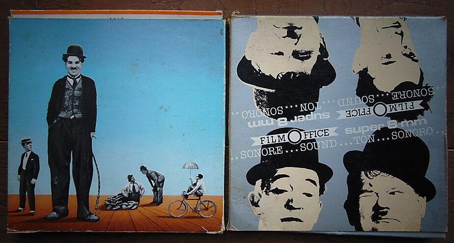 Laurel & Hardy + Charlie Chaplin + ... - 2 X 8mm movie- FILM OFFICE