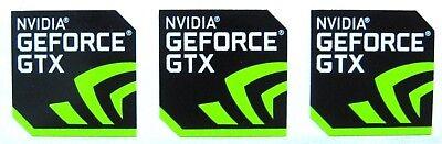 3 pcs NVIDIA GEFORCE GTX Sticker 17.5mm x 17.5mm Label Logo Decal Case Badge