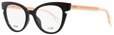 Fendi Cateye Eyeglasses FF0134 N7A Black/Crystal/Pink 50mm (Fendi Eyeglass)