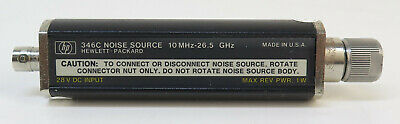 Hp Agilent 346c Noise Source - 10 Mhz - 26.5 Ghz 3.5mm Connector 28 Vdc