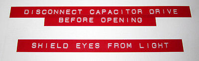 Back to the Future Prop Replica - Flux Capacitor Labels - Screen Accurate