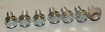 Ih Cub 154 184 185 Lo-boy Washer Head Body Bolts. Zinc Plated Restoration New