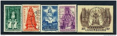 LUXEMBOURG - 1945 Our Lady of Luxembourg Set Used as Scan