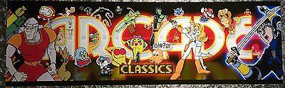 "Arcade Classics Multicade/Mame Arcade Marquee 26""x8"""