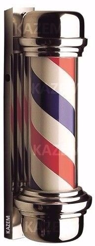Boxed New Red Blue and White Barber Pole shop sign