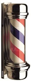 Boxed & New Original Red Blue and White Barber pole for Out Door Use