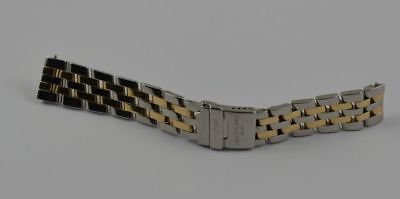 BREITLING PILOT ARMBAND STAHL/GOLD 16MM WINGS LADY COCKPIT SIRIUS DAMEN