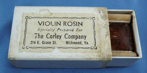 VTG VIOLIN ROSIN,CORLEY COMPANY, 214 E.GRACE ST.RICHMOND,VIRGINIA,VA.,WITH BOX