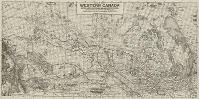 WESTERN CANADA showing Canadian Pacific Railway Company lines 1913 old map