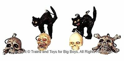 Lemax 42844 HALLOWEEN TREE DECORATIONS Spooky Town Accessories Retired Decor R