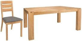 Brand new solid oak dining table with 4 chairs! RRP £1600
