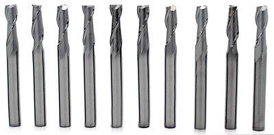 10pcs 14 2 Flute Single End Uncoated High Quality Korea Carbide End Mills