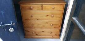 Solid pine chest of drawers ( DUCAL)