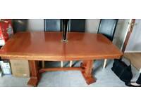 Large dining room table african oak