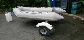 Inflatable dinghy and trailer