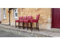 4 man cave bar stools/kitchen diner stools.