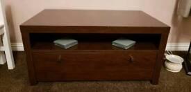 Mahogany veneer TV unit, coffee table & phone table